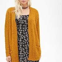 FOREVER 21 Textured Open-Front Cardigan