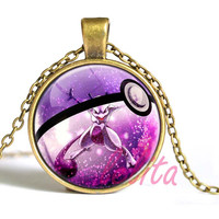 Glass Dome Jewelry Pokemon Pendant Personalized Picture Necklace Pikachu Bijoux Femme christmas Gift for children