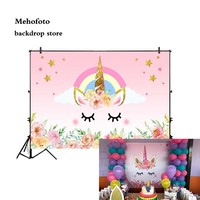 Vinyl Backgrounds Unicorn Flower Backdrops Photo Shoot Party Newborn Baby Shower Backgrounds 5x3ft Seamless Cloth 709