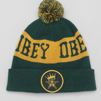 OBEY Crowned Pom Beanie - Urban Outfitters