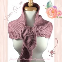 Shoulder Shawl Scarf Ladies Handknit Victorian Rose Caron Simply Soft