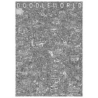 'DoodleWorld' A0 fold-out colourable poster