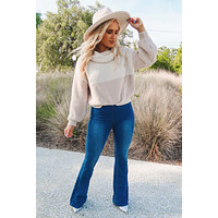 Fall This Way Sweater: Beige/Taupe
