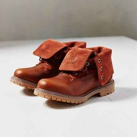 Timberland Authentics Suede Roll-Top Boot- Brown