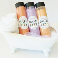 Foaming Bath Bomb Fizz - Choose Your Scent, includes Shea Butter, 6 Natural Oils, Kaolin Clay and salts