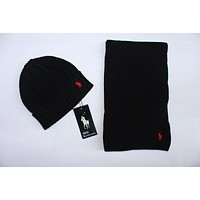 Ralph Lauren Knitted Hat & Scarf 1014# 4 Colors