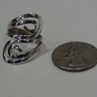 925 Sterling Silver Paisley Swirl Cocktail Ring