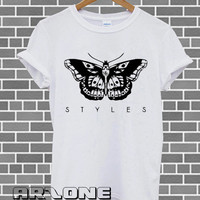 Band Shirt - One Direction Shirt 1D t-shirt Harry Styles Tatto Tshirt Printed White Color Unisex Size - AR09