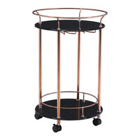 ZUO Plato serving cart rose gold
