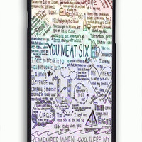 You Me At Six Quote For iPhone 6/6S Case *