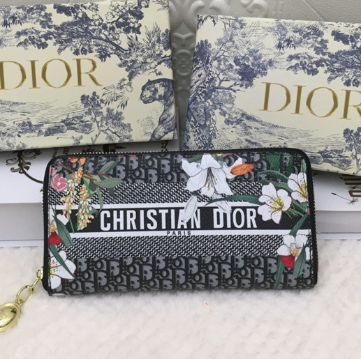 Image of DIOR Women Fashion Leather Purse Wallet