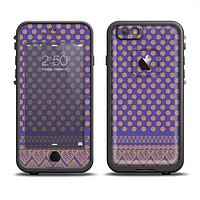 The Tall Purple & Orange Vintage Pattern Skin Set for the Apple iPhone 6 LifeProof Fre Case