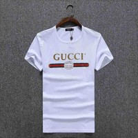 ESB8H2 GUCCI Women Man Fashion Print Sport Shirt Top Tee