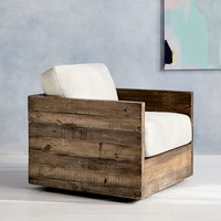 Emmerson™ Reclaimed Wood Swivel Chair