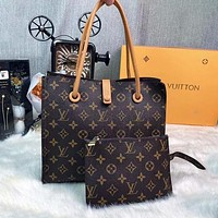 Louis Vuitton LV Two-Piece Set Classic Letter Print Pattern Fashion Ladies Shoulder Bag Handbag Shopping Bag Coin Purse