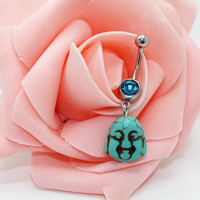 Belly button ring, Buddha belly ring, Buddha belly button jewelry