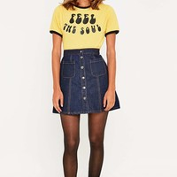 Urban Outfitters Dark Rinse Denim A-Line Skirt - Urban Outfitters