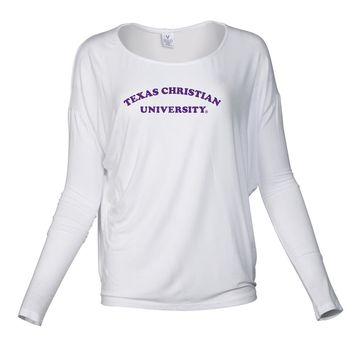 NCAA TCU Horned Frogs RYLTCU01 Women's Loose Pico Top