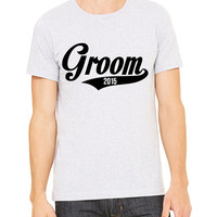 Groom 2015 T-Shirt Unisex Men's Gift Bachelor Party Tank Bride Wedding Mr Hubby Married
