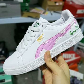 Puma Suede Classic 50th Anniversary x Peppa Pig Joint Edition Leather Panel Shoes F-A50-XYZ pink