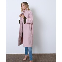 Playing It Cool Oversized Coat Pink