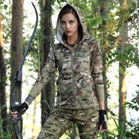Hiking Shirt camping Woman Camouflage Long-sleeved Hoodies Quick-drying Hoodie Camouflage Outdoor Tactical Shirt Hiking UV Protection Hoodie Shirt KO_17_1