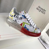 Alexander Mcqueen Graffiti Oversized Sneakers With Air Cushion Sole Reference #22
