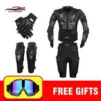 Trendy Winter Jacket New Motocross Racing Motorcycle Body Armor Moto Protective Gear Motorcycle +Shorts Pants+Protection Knee Pads+Gloves Guard AT_92_12