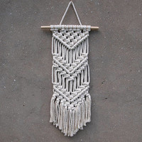 Small Christmas gift for her Women's gift for mom anniversary gift for wife Small wall hanging Living room decor Macrame wall decor