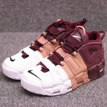 Supreme  Nike Air More Uptempo Fashion and leisure sports shoes