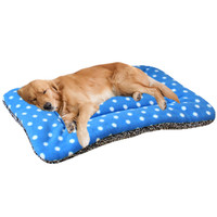 Classic Pet Dog Cat Soft Fleece Mats Dotted Pet Dog Bed Cat Pets Beds Pet House Blanket Basket Pad For Large Dogs Chihuahua