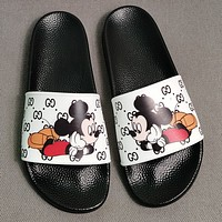 GUCCI  GG Mickey Mouse slippers