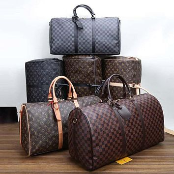 LV Louis Vuitton classic large-capacity colorblock travel bag duffel bag handbag shoulder bag