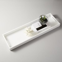 Lacquer Wood Tray - White