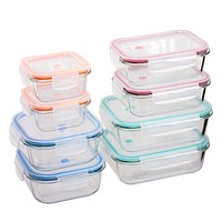 16-Piece Glass Storage Containers with Lids - 2 Units