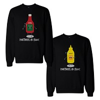 Ketchup And Mustard Couple Sweatshirts Cute Matching Sweat Shirts