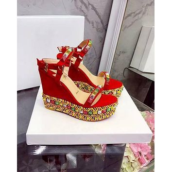Christian Louboutin CL Pyraclou 11cm Wedges Style #37