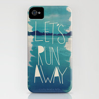 Let's Run Away XI iPhone Case by Leah Flores | Society6