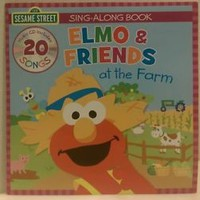 Elmo & Friends at the farm sing along book 20 songs on CD New