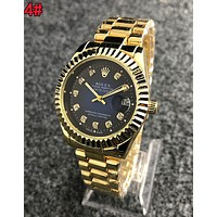 Rolex Fashionable Women Men Movement Quartz Watch Couple Wristwatch 4#