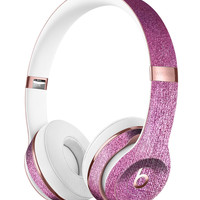 Shiny Pink Fabric Texture Full-Body Skin Kit for the Beats by Dre Solo 3 Wireless Headphones