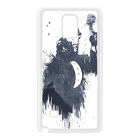 Wolf Song 3 White Silicon Rubber Case for Galaxy Note 4 by Balazs Solti