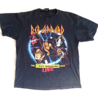 Def Leppard 1992 Concert Tour Shirt - 7 Day Weekend T-Shirt - Quirky Gift - Gift for Him - Band Shirt