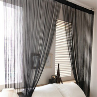 String Tassel Panel Curtain Room Divider Door Hanging 1m x 2m Window Curtains