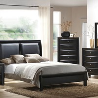 5 Piece Black Bedroom Set