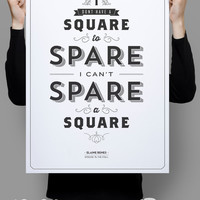 """Spare a Square Poster 11x17"""" - Seinfeld Quote Print - Vintage Retro Typography"""