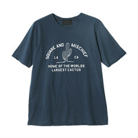 """""""SQUARE AND MISCHIEF"""" T-Shirt (Navy) 