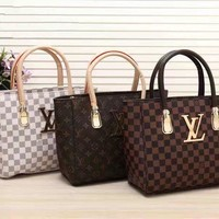 LV Women Shopping Leather Tote Handbag Shoulder Bag H