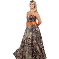 Realtree ® Camo Bridal Gowns   Camo long Dresses   Free Shipping