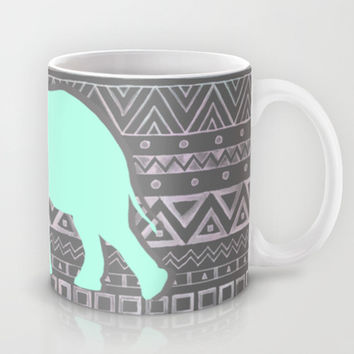 Mint Elephant Mug by Sunkissed Laughter